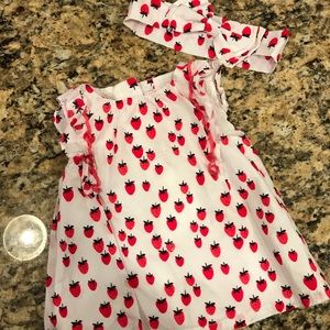 Gymboree Baby Girl Matching Top & Bow